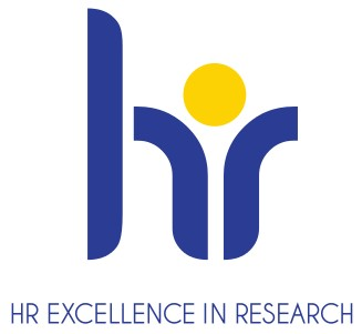 HR excellence in research, text with logo