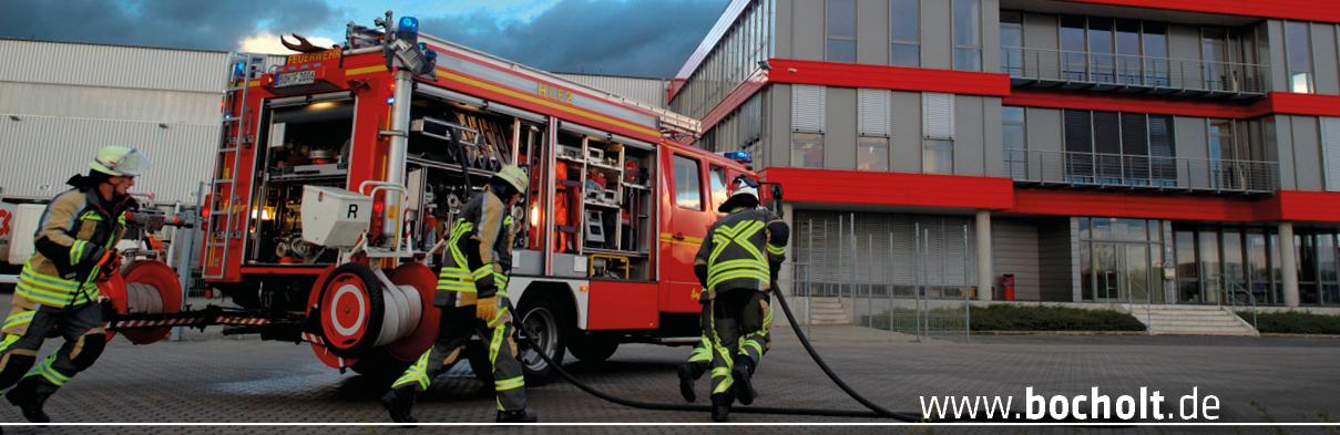 Feuerwehrmänner bei der Arbeit